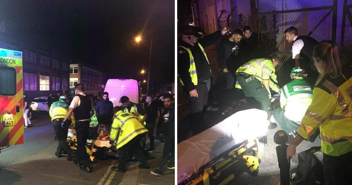 Car hits pedestrians outside mosque after passengers 'hurled anti-Islamic abuse'