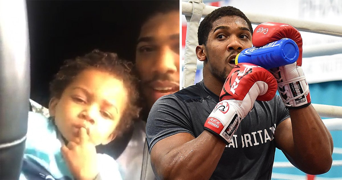 Anthony Joshua's son won't let him train for the Povetkin fight and it's so adorable