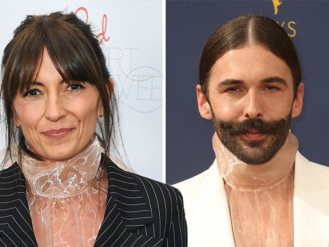 Davina McCall channels Jonathan Van Ness in sheer blouse and she's slaying it