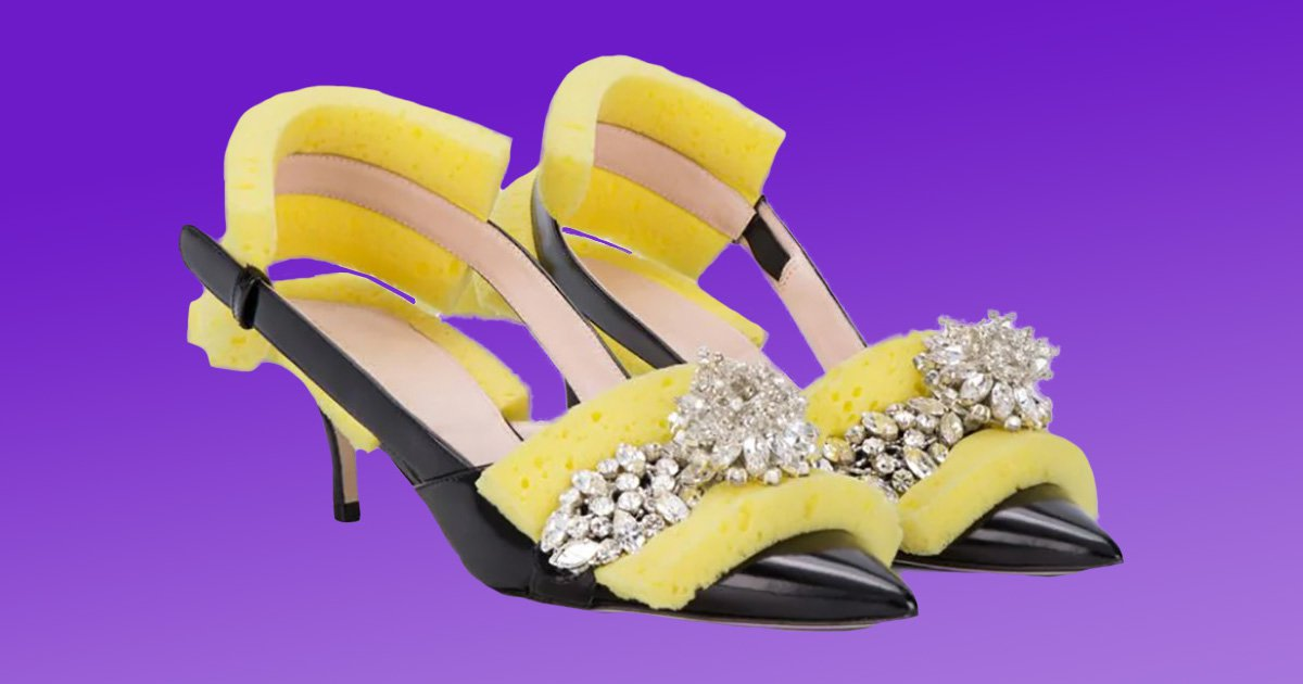 Yes, people really are wearing Christopher Kane's £800 shoes with bits of sponge on them