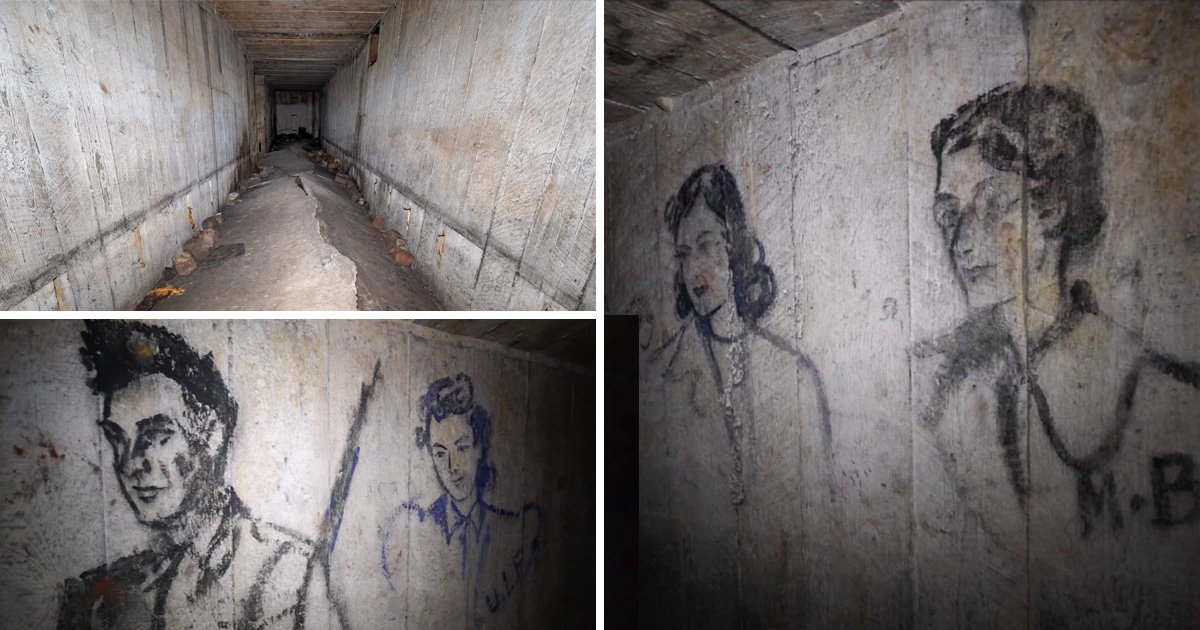 Explorer finds untouched coal sketches in secret World War Two bunker
