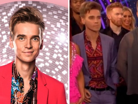 Strictly Come Dancing's Joe Sugg caught out making cheeky gesture on live TV