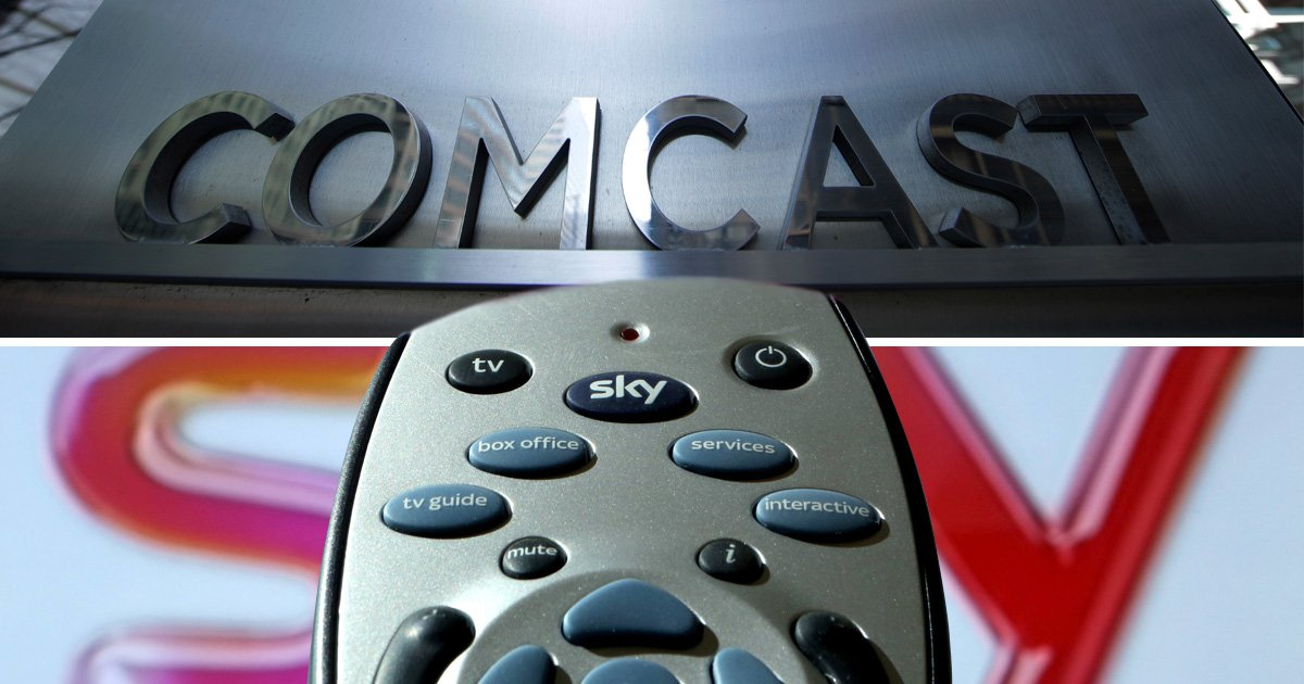 Comcast wins battle for Sky after beating fox with £30,000,000,000 bid