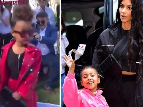 North West makes sassy runway debut as Kim Kardashian cheers from the sidelines
