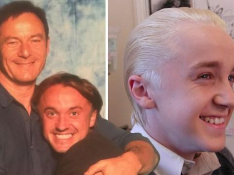 Harry Potter's Jason Isaacs sends hilarious birthday tribute to 'favourite son' Tom Felton