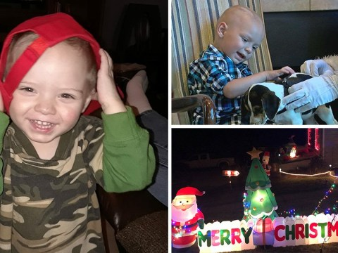 Boy, two, celebrates Christmas in September after being given weeks to live