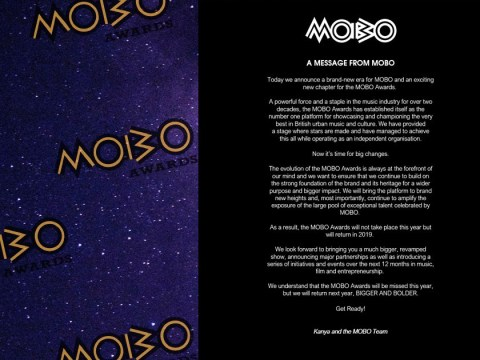 MOBO Awards cancelled this year as annual event promises 'exciting' return