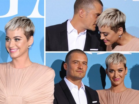 Katy Perry and Orlando Bloom give little away during first red carpet appearance