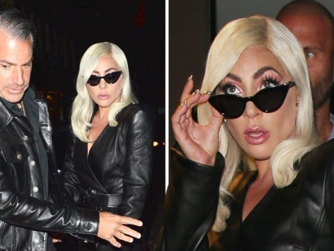 Lady Gaga pushes fashion boundaries again but her dress gets the better of her as she flashes underwear