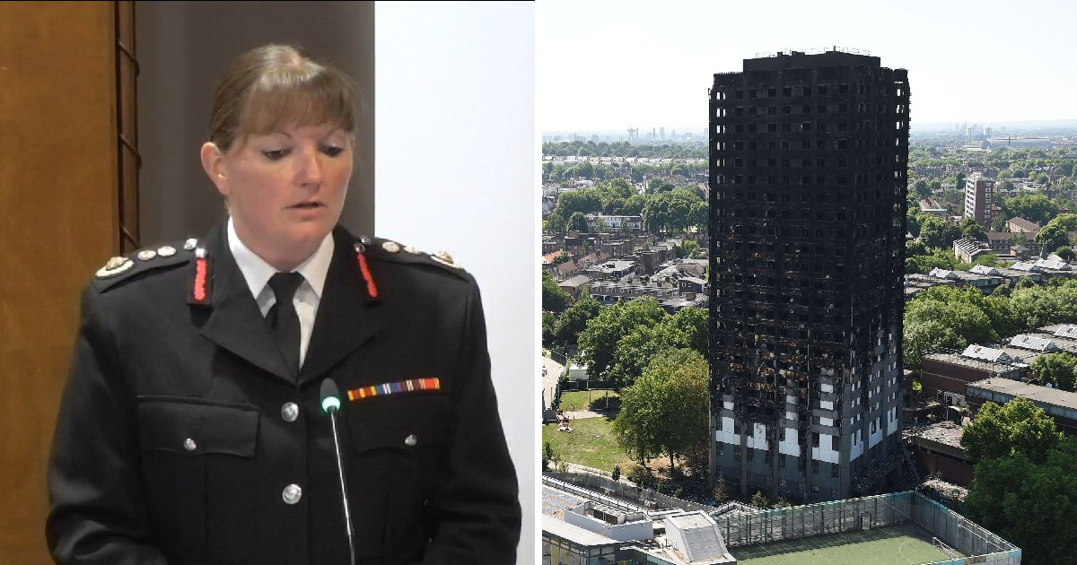 London's top firefighter touched her staff as they went into Grenfell convinced they would die