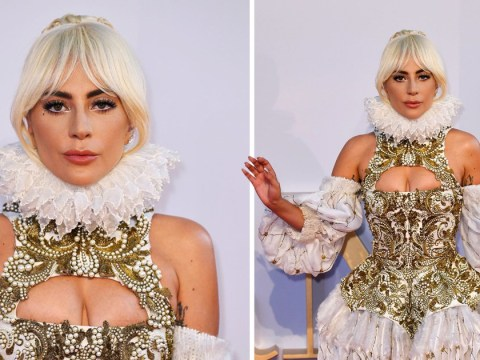 Lady Gaga is perfectly extra in Shakespearean gown at A Star Is Born premiere in London