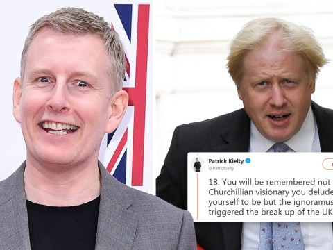 Patrick Kielty in epic Twitter takedown of Boris Johnson's plans for Brexit