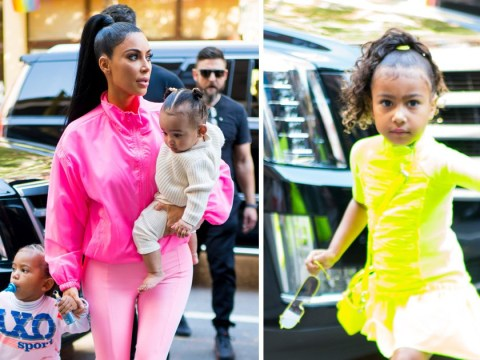 Kim Kardashian makes rare appearance with kids North, Saint and Chicago ahead of Kanye West's SNL performance