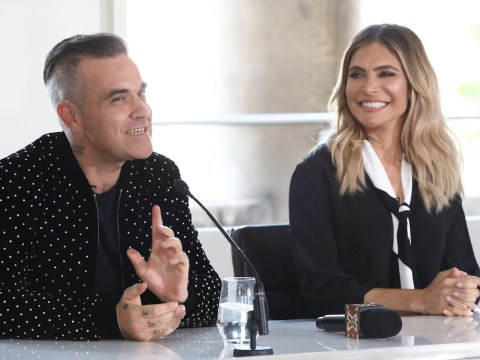Robbie Williams says newborn Coco is 'the most chilled baby ever' as he breaks his silence on secret arrival