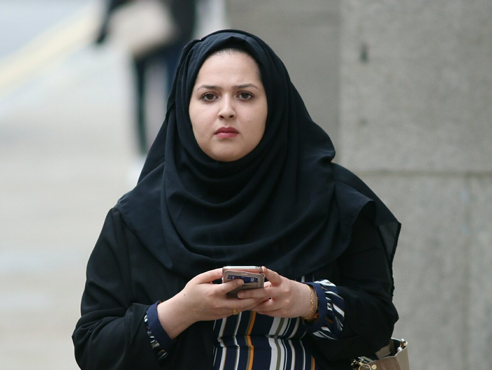 Pic shows Fatima Khan at the Old Bailey. An Afghani refugee showered his girfriend with affectionate messages and gifts just days before she set up his murder and filmed him bleeding to death, a court heard. Snapchat addict Fatima Khan, 20, allegedly urged Raza Khan, 19, to stab 18-year-old Khalid Safi outside a Costa Coffee in Acton, west London. Ms Khan filmed the scene and posted it to the social media site with the caption 'This is what happens when you f*** with me,' the Old Bailey heard. SEE STORY CENTRAL NEWS