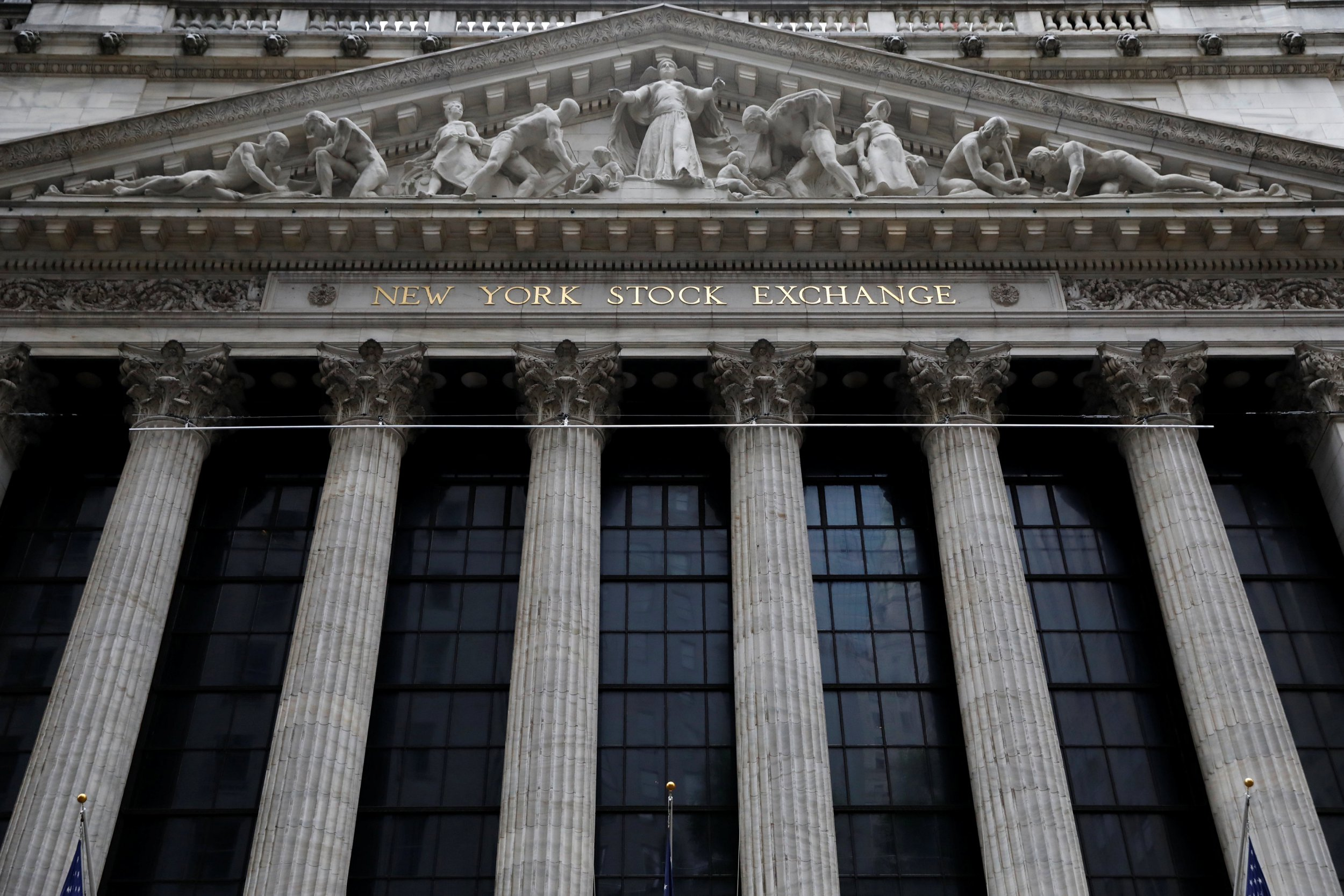The facade of the New York Stock Exchange (NYSE) is seen in New York, U.S., August 22, 2018. REUTERS/Brendan McDermid