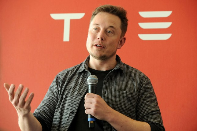 FILE PHOTO: Founder and CEO of Tesla Motors Elon Musk speaks during a media tour of the Tesla Gigafactory, which will produce batteries for the electric carmaker, in Sparks, Nevada, U.S. July 26, 2016. REUTERS/James Glover/File Photo
