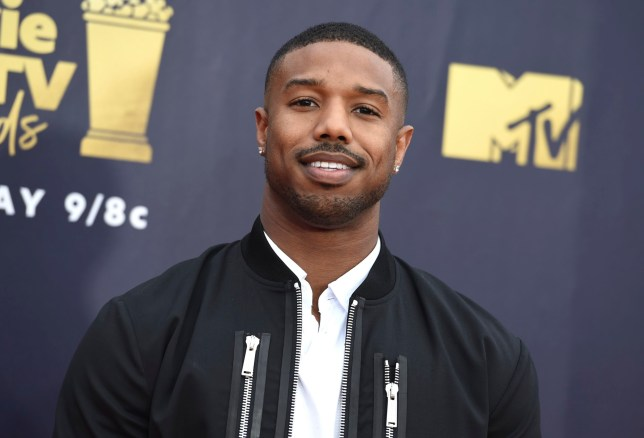 FILE - In this June 16, 2018 file photo, Michael B. Jordan arrives at the MTV Movie and TV Awards in Santa Monica, Calif. Jordan was in Montgomery, Ala., on Monday, Aug. 27, to begin filming ???Just Mercy,??? which is based on the memoir of attorney and criminal justice advocate Bryan Stevenson. He made an impromptu visit with some students from Valiant Cross Academy who were exercising in the midday heat. (Photo by Jordan Strauss/Invision/AP, File)