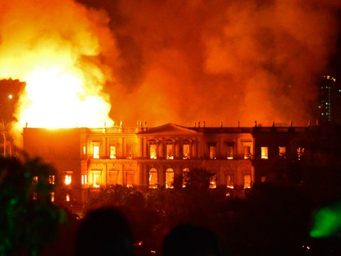 Fire tears through 200-year-old Rio de Janeiro museum holding thousands of priceless relics