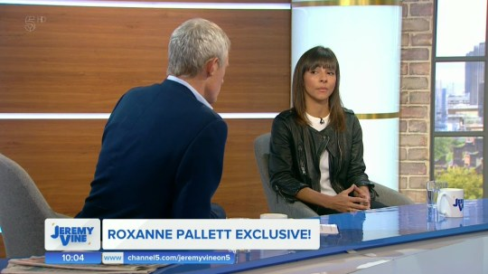 Roxanne Pallett apologies to Ryan and his family on 'The Jeremy Vine Show'. Broadcast on Channel 5 Featuring: Roxanne Pallett When: 03 Sep 2018 Credit: Supplied by WENN **WENN does not claim any ownership including but not limited to Copyright, License in attached material. Fees charged by WENN are for WENN's services only, do not, nor are they intended to, convey to the user any ownership of Copyright, License in material. By publishing this material you expressly agree to indemnify, to hold WENN, its directors, shareholders, employees harmless from any loss, claims, damages, demands, expenses (including legal fees), any causes of action, allegation against WENN arising out of, connected in any way with publication of the material.**