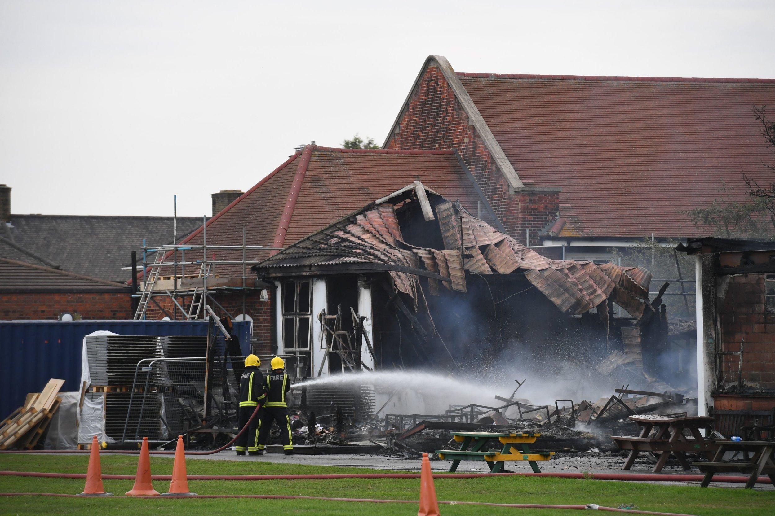 Huge fire breaks out at Roding primary school in Dagenham day before children go back
