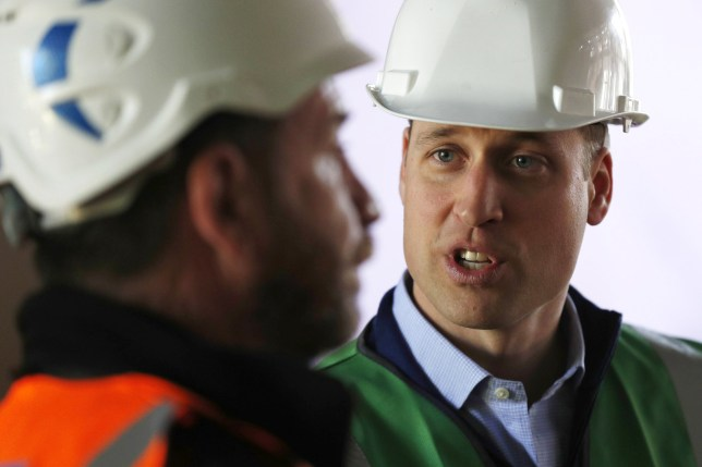 The Duke of Cambridge talks to presenter Nick Knowles as he joins the crew of DIY SOS in Ladbroke Grove, west London, on a major project to support people affected by the devastating fire at Grenfell Tower.