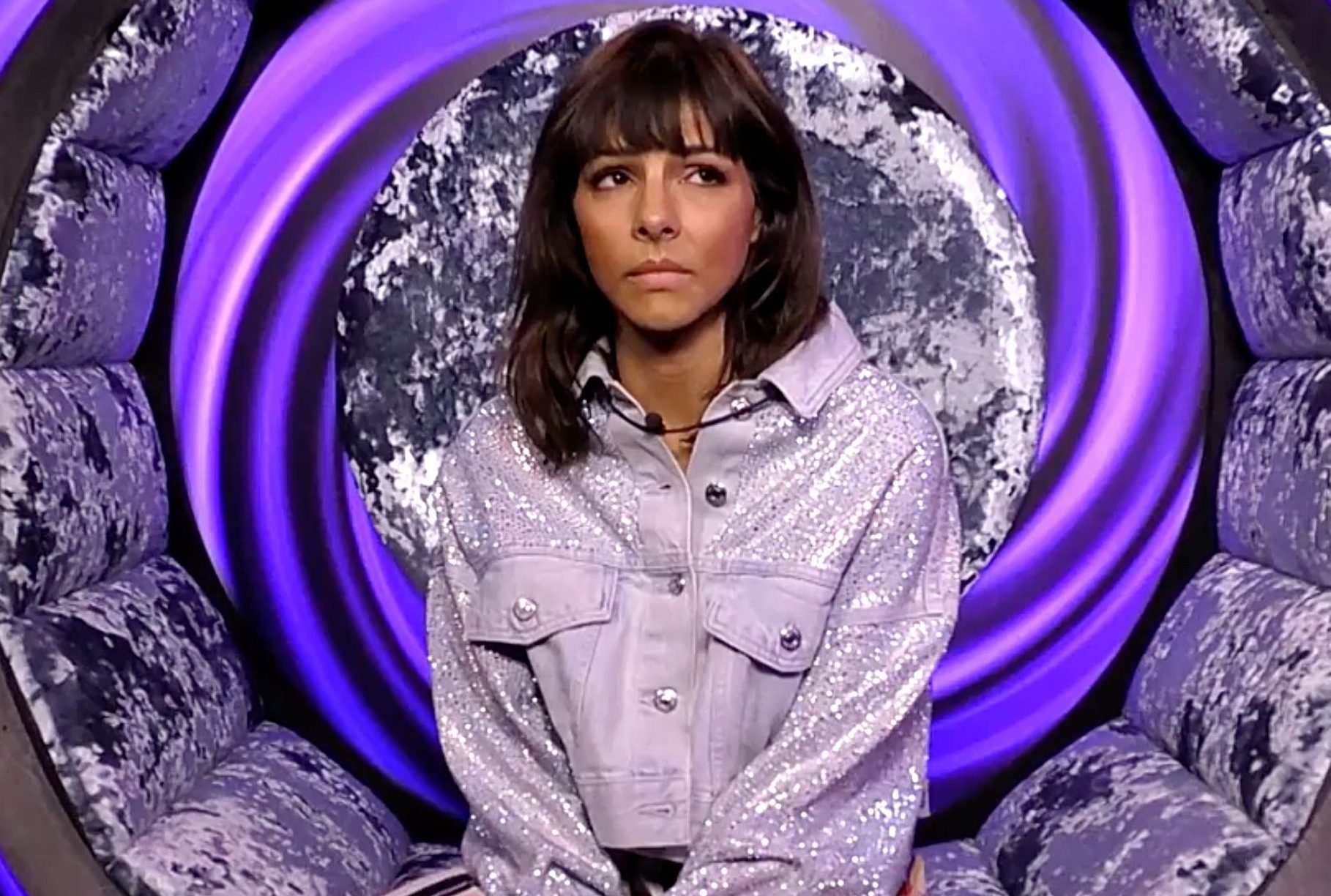 Editorial Use Only Mandatory Credit: Photo by REX (9826809al) Roxanne Pallett in the diary room 'Celebrity Big Brother' TV show, Series 22, Elstree Studios, Hertfordshire, UK - 29 Aug 2018