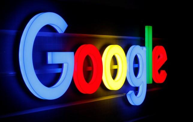 An illuminated Google logo is seen inside an office building in Zurich September 5, 2018. REUTERS/Arnd WIegmann