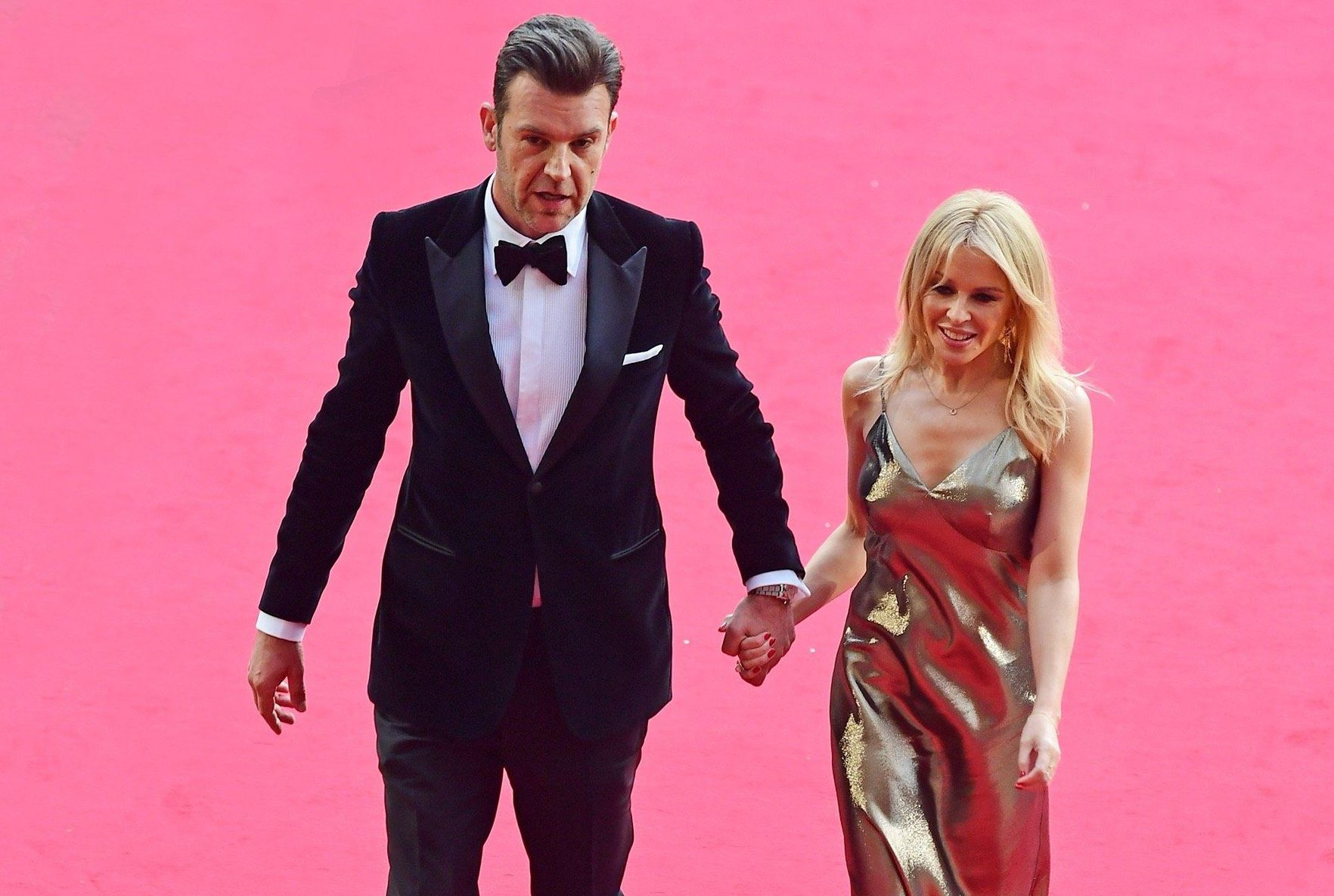 Kylie Minogue shines on red carpet debut with new man Paul Solomons at GQ Men Of The Year Awards