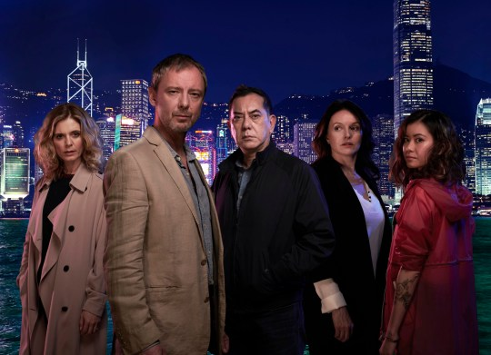 TWO BROTHER PICTURES FOR ITV STRANGERS EPISODE 1 PICTURED: JOHN SIMM as Jonah Mulray, ANTHONY WONG as David Chen, EMILIA FOX as Sally Porter,KATIE LEUNG as Lau Chen and DERVLA KIRWAN as Megan Harris. This photograph is (C) iTV and can only be reproduced for editorial purposes directly in connection with the programme or event mentioned above. Once made available by ITV plc Picture Desk, this photograph can be reproduced once only up until the transmission [TX] date and no reproduction fee will be charged. Any subsequent usage may incur a fee. This photograph must not be manipulated [excluding basic cropping] in a manner which alters the visual appearance of the person photographed deemed detrimental or inappropriate by ITV plc Picture Desk. This photograph must not be syndicated to any other company, publication or website, or permanently archived, without the express written permission of ITV Plc Picture Desk. Full Terms and conditions are available on the website www.itvpictures.com For further information please contact: Patrick.smith@itv.com 0207 1573044