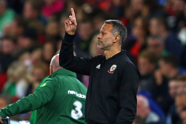 Wales' manager Ryan Giggs gestures on the touchline during the UEFA Nations League football match between Wales and Republic of Ireland at Cardiff City Stadium in Cardiff on September 6, 2018. (Photo by Geoff CADDICK / AFP)GEOFF CADDICK/AFP/Getty Images