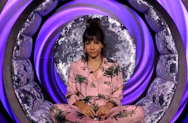 Editorial Use Only Mandatory Credit: Photo by REX/Shutterstock (9795431a) Roxanne Pallett in the diary room 'Celebrity Big Brother' TV show, Series 22, Elstree Studios, Hertfordshire, UK - 22 Aug 2018