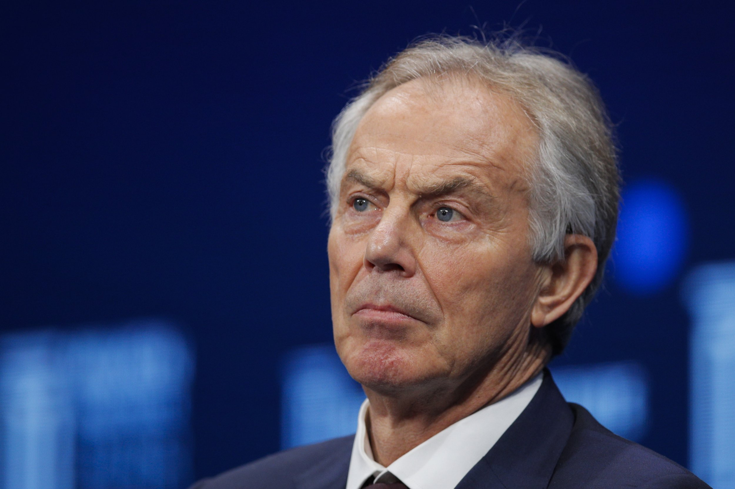 """FILE - In this file photo dated Monday, April 30, 2018, former British Prime Minister Tony Blair during a discussion at the Milken Institute Global Conference, in Beverly Hills, Calif. USA. In an interview with the BBC on Friday Sept. 7, 2018, Blair said Labour under Jeremy Corbyn is a """"different party"""" and said he is unsure whether the party can be """"taken back"""" by moderates. (AP Photo/Jae C. Hong, FILE)"""