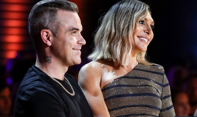EDITORIAL USE ONLY - NO MERCHANDISING Television programme: 'The X Factor' TV show, Series 15, Episode 3, UK - 08 Sep 2018 Mandatory Credit: Photo by Dymond/Thames/Syco/REX (9874911s) Robbie Williams and Ayda Williams during Ivo Dimichew's performance