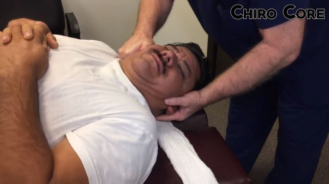 chiropractor cant crack my neck