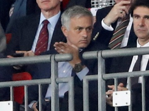 Jose Mourinho smirks as Luke Shaw sets up Marcus Rashford to score for England