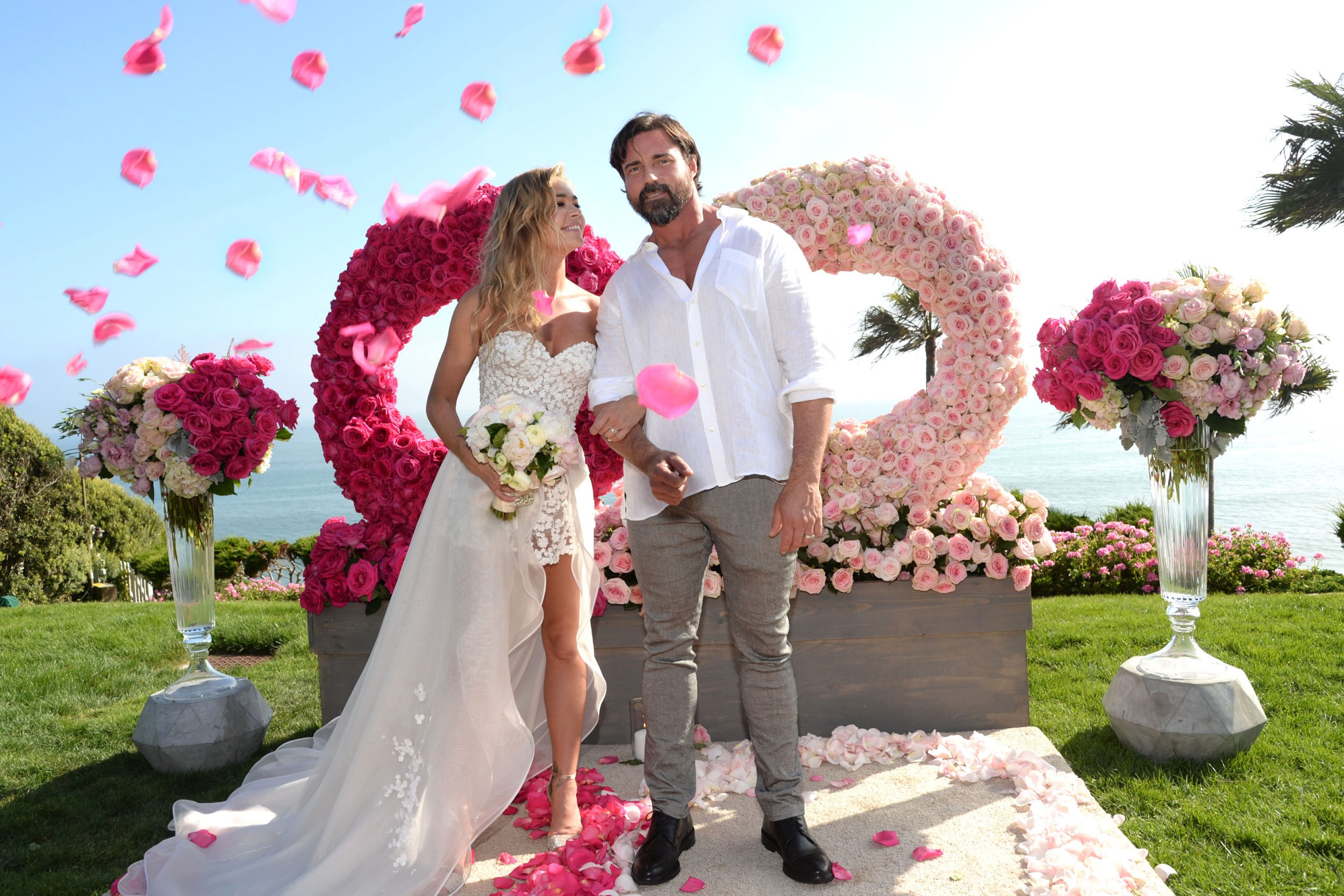 Premium Exclusive - Malibu, CA - 09/08/2018 - Denise Richards married Aaron Phypers Cypress Se Cove in Malibu. Richards who looked beautiful in her Mark Zunino dress, brought together friends, family and new castmates from her Real Housewives of Beverly Hills Season 9 at her very un-traditional wedding and reception. To quote Denise `I am so happy to officially be married to the love of my life. I can`t wait for everyone to go on this incredible journey with me this season on `The Real Housewives of Beverly Hills.` It has been a wild ride so far!` -PICTURED: Aaron Phypers, Denise Richards -PHOTO by: Michael Simon/startraksphoto.com -MS477388 Editorial - Rights Managed Image - Please contact www.startraksphoto.com for licensing fee Startraks Photo Startraks Photo New York, NY For licensing please call 212-414-9464 or email sales@startraksphoto.com Image may not be published in any way that is or might be deemed defamatory, libelous, pornographic, or obscene. Please consult our sales department for any clarification or question you may have Startraks Photo reserves the right to pursue unauthorized users of this image. If you violate our intellectual property you may be liable for actual damages, loss of income, and profits you derive from the use of this image, and where appropriate, the cost of collection and/or statutory damages.