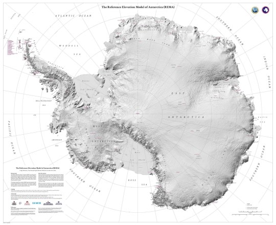 Scientists have released the most accurate, high-resolution terrain map of Antarctica ever created. The Reference Elevation Model of Antarctica (REMA)