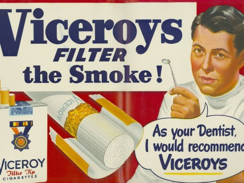 These are the adverts that told people smoking was good for them