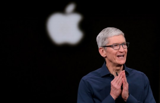 SIPA USA via PA Images Tim Cook opens the Apple's annual product launch, Wednesday, Sept. 12, 2018, at company headquarters in Cupertino, Calif. (Photo by Karl Mondon/Bay Area News Group/TNS/Sipa USA)