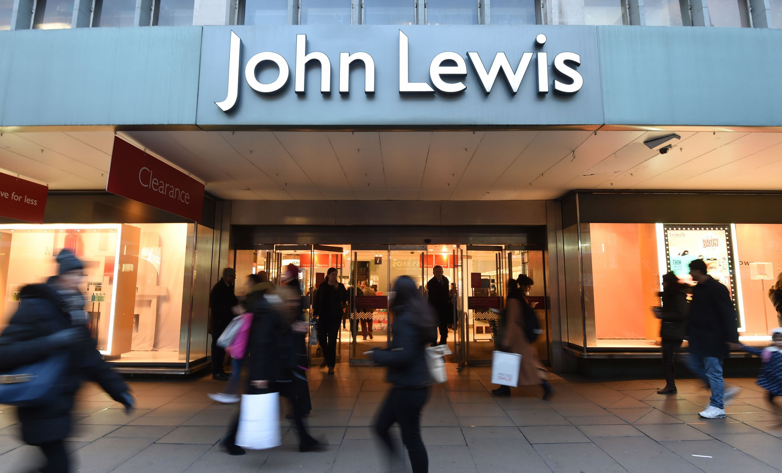 """File photo dated 11/01/17 of a John Lewis store. The John Lewis Partnership has revealed half-year profits crashed 98.8% as it battled against """"challenging times"""" and the most promotional market for nearly a decade. PRESS ASSOCIATION Photo. Issue date: Thursday September 13, 2018. The owner of the department store chain and supermarket Waitrose posted underlying pre-tax profits of ?1.2 million for the six months to July 28. See PA story CITY JohnLewis. Photo credit should read: Charlotte Ball/PA Wire"""