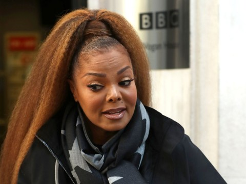 Janet Jackson braces against London's chill as she chats comeback 'mega video' with Chris Evans