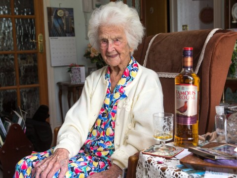 112-year-old woman credits her long life to whisky