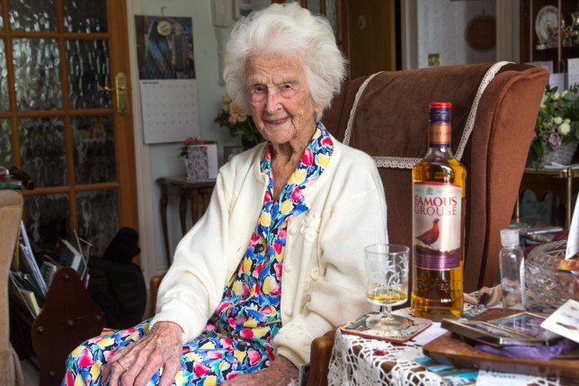 Grace says that her nightcap of whisky has helped her live such a long life. (Picture: SWNS.com)