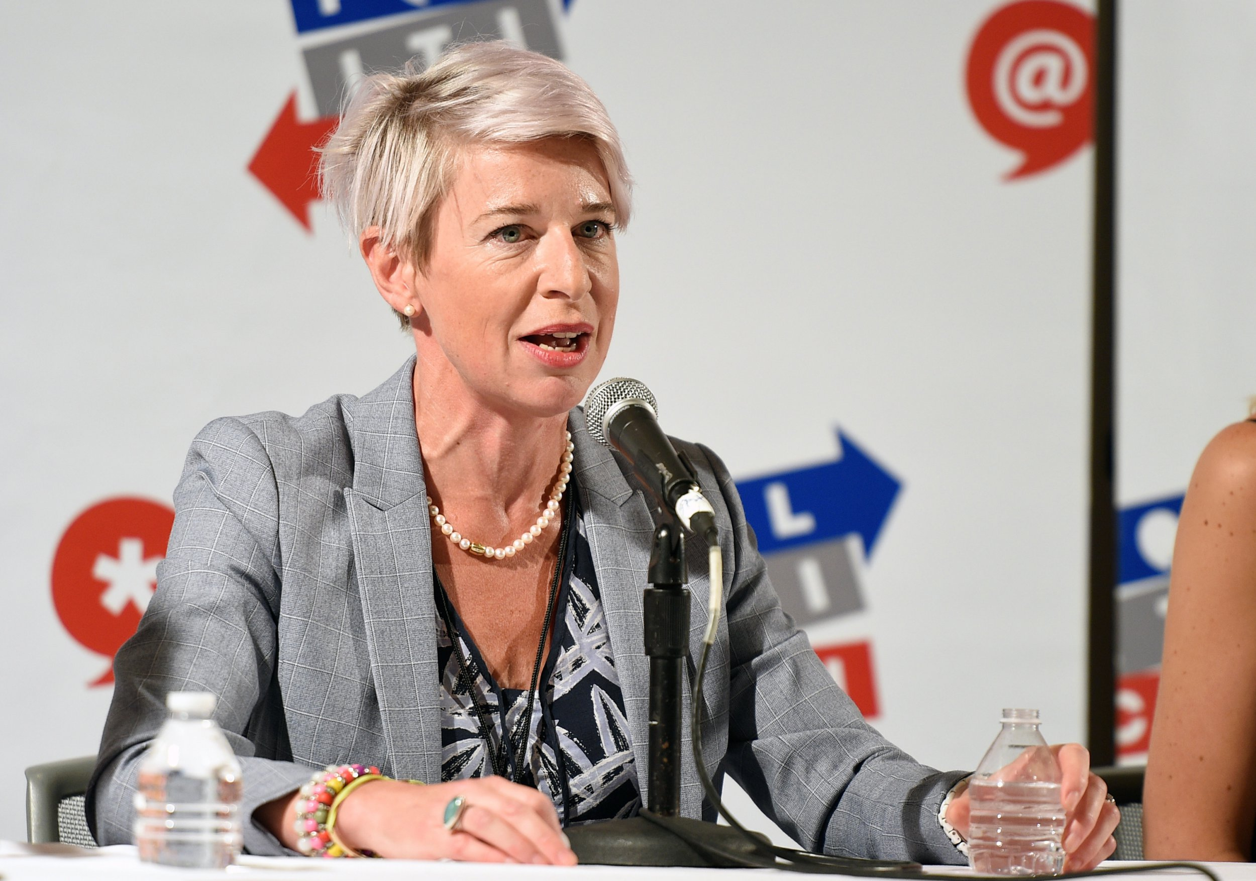 PASADENA, CA - JULY 29: Katie Hopkins at 'Sex, Presidents & Handmaids Hosted by Lady Freak' panel during Politicon at Pasadena Convention Center on July 29, 2017 in Pasadena, California. (Photo by Joshua Blanchard/Getty Images for Politicon)