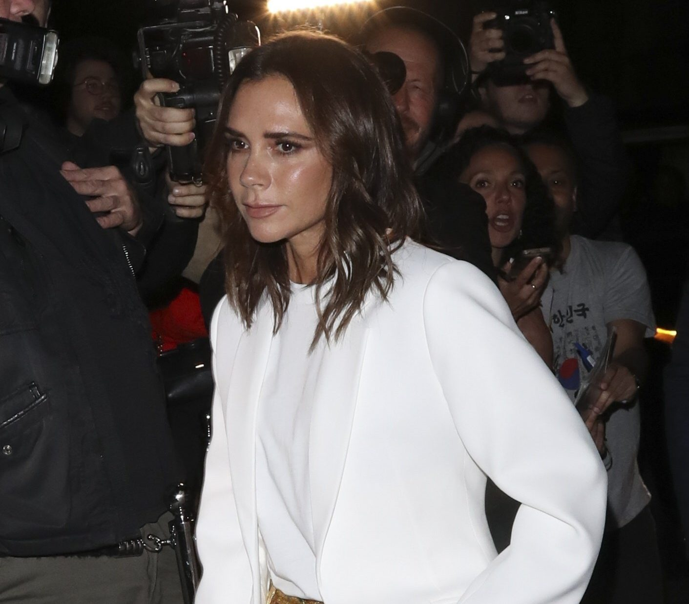 BGUK_1339437 - London, UNITED KINGDOM - LFW: Victoria Beckham x Vogue - party at ???MARK'S CLUB Pictured: Victoria Beckham BACKGRID UK 16 SEPTEMBER 2018 BYLINE MUST READ: Old Boy's Club / BACKGRID UK: +44 208 344 2007 / uksales@backgrid.com USA: +1 310 798 9111 / usasales@backgrid.com *UK Clients - Pictures Containing Children Please Pixelate Face Prior To Publication*