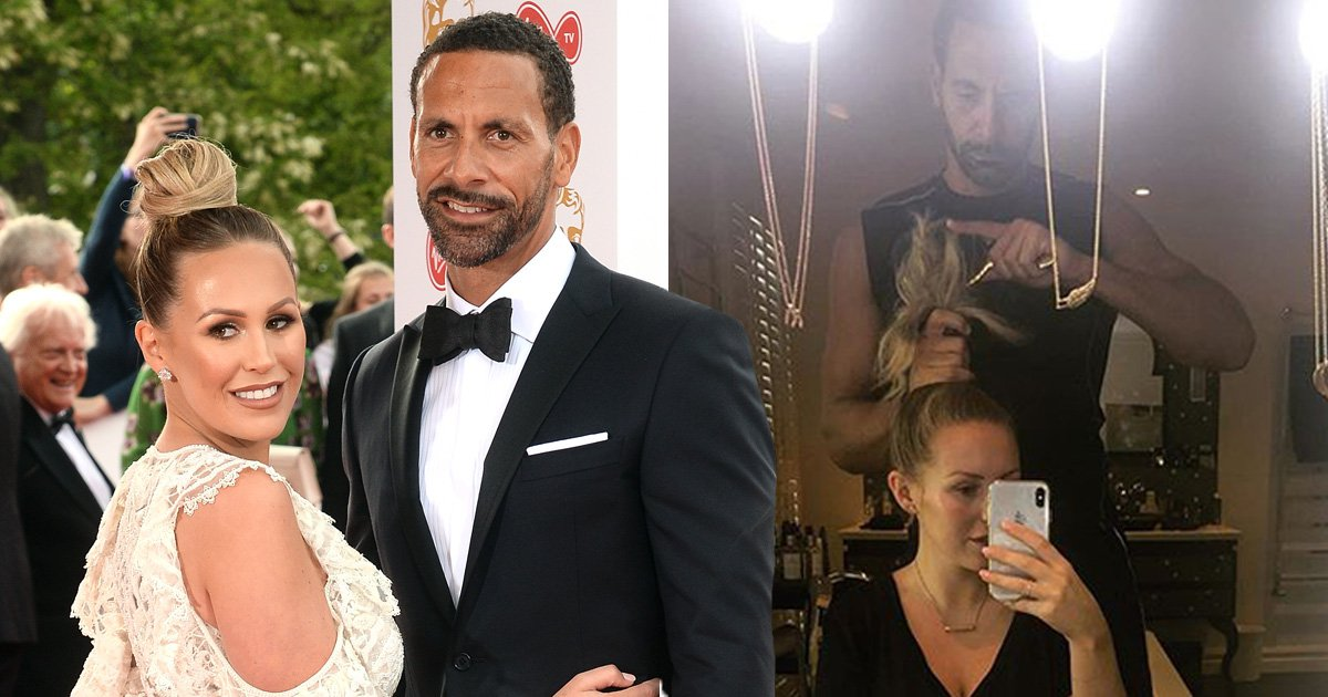 Rio Ferdinand is boyfriend goals as he styles Kate Wright's hair after she breaks her wrist