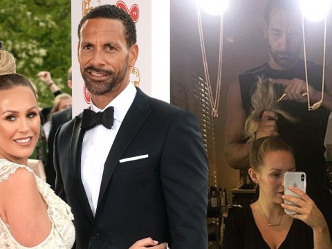 Rio Ferdinand is boyfriend goals as he styles Kate Wright's hair after she breaks her wrist