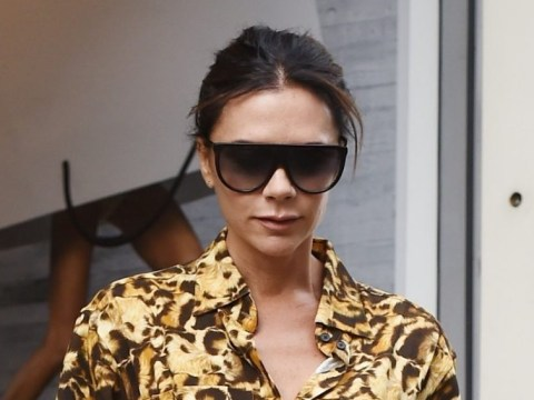 Victoria Beckham gets back to work after weekend of parties as she visits flagship store in London