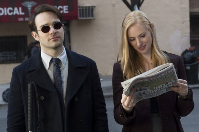 No Merchandising. Editorial Use Only. No Book Cover Usage Mandatory Credit: Photo by Moviestore/REX/Shutterstock (5659877b) Charlie Cox, Deborah Ann Wolf 'Daredevil' TV series - 2015
